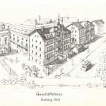 Die Marienstraße 15 als Geschäftshaus der Firma Gebr. Bing, 1901.
