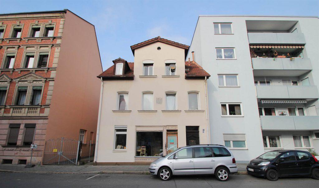 Die Häuser Maxfeldstraße 51, 53 und 55
